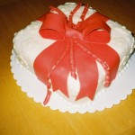 Gift-wrapped cake