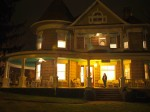 The Parlor Bed and Breakfast was really inviting when we arrived, brightly lit in the dark.