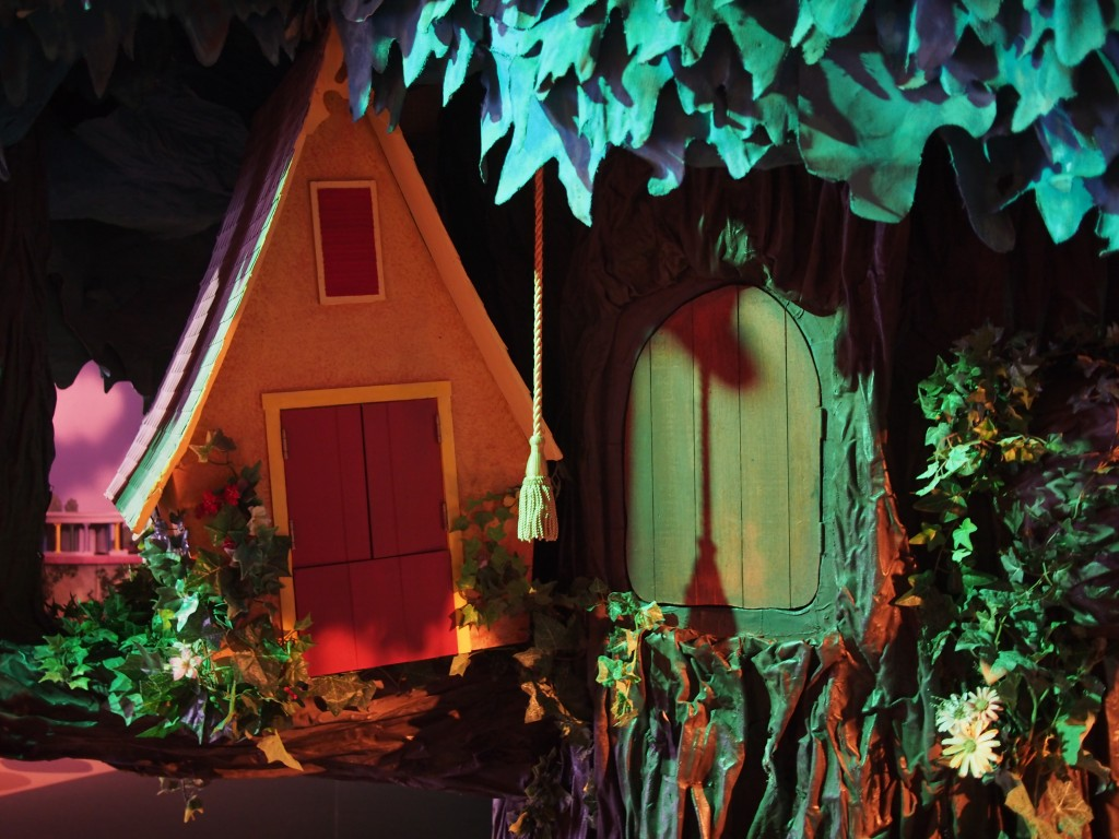 Henrietta and X's tree set, from the Neighborhood of Make Believe on Mister Rogers' Neighborhood.