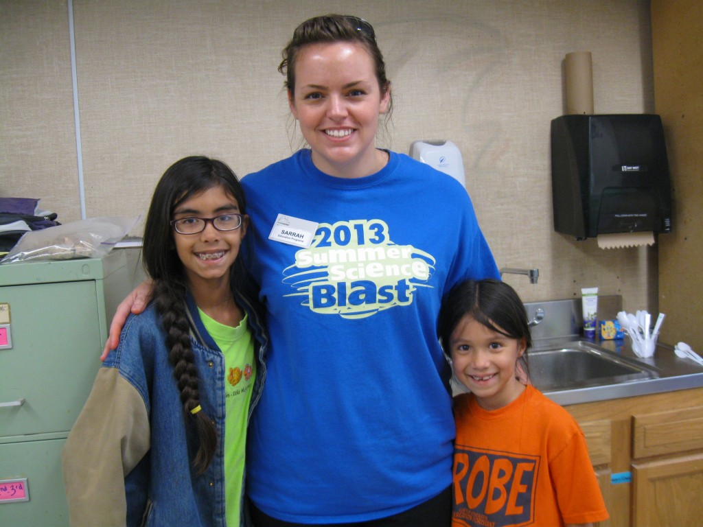 "Ms. Sarrah was leader for ""Scary Science"" camp at Vogt with Jadzia and Ludi"