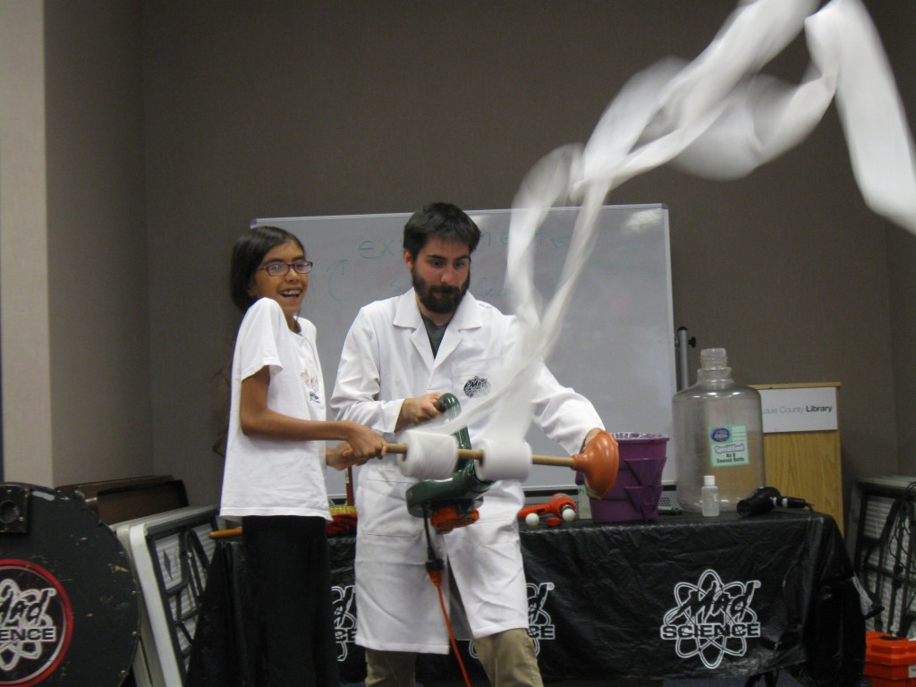 Mad Science at the Prairie Commons County Library.