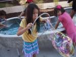 Ludi blows bubbles at the San Antonio DoSeum