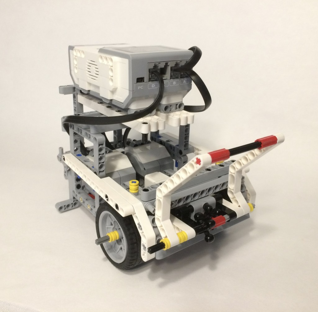 "The Viper Bots' finished robot. It has a ""grabber"" attachment, but we couldn't get it to work right at the competition."