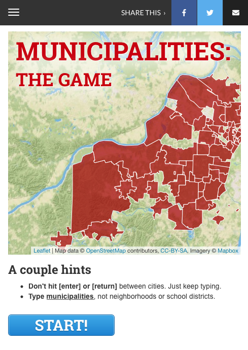Municipalities: The Game